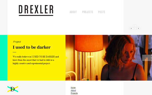 Drexler drxlr website agency studio webdesign