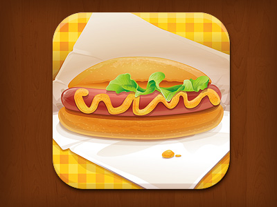 iOS App Icon for Hot Dogs Logo
