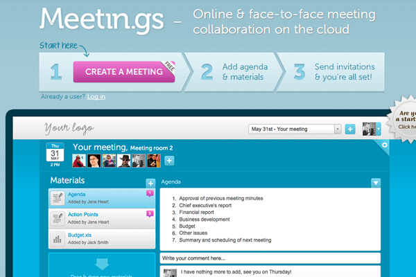 social collaborative meetings in the cloud