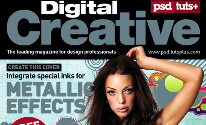 spot metallic magazine cover design tutorial