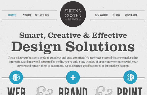 sheena oosten portfolio clean simple minimal
