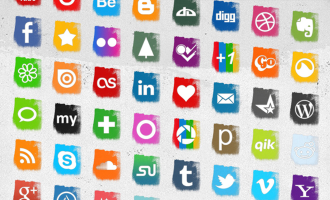 social media splash iconset freebie