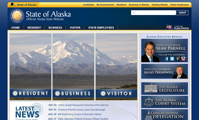 state of alaska usa website