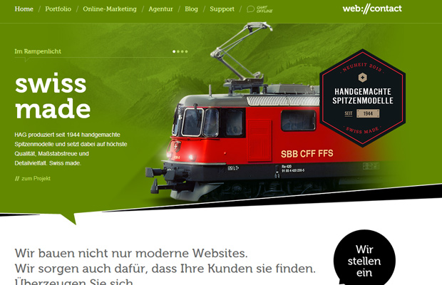 web contact agency german website layout green