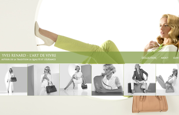 yves renard fashin website layout summer 2013
