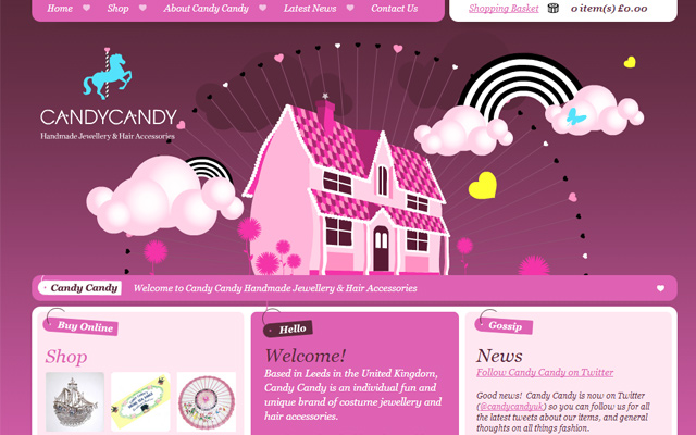 jewellery pink website layout homepage design fancy ui