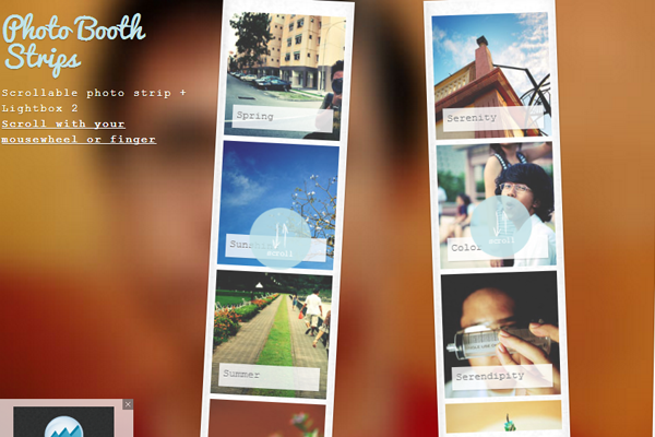 photo booth images strips css3 tutorial