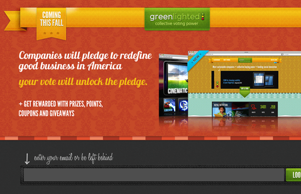 website landing page greenlighted launch