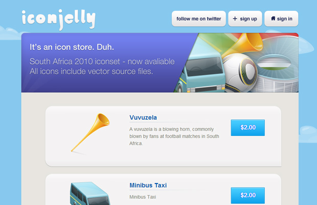 iconjelly blue website layout design