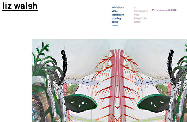 liz walsh portfolio flat website layout