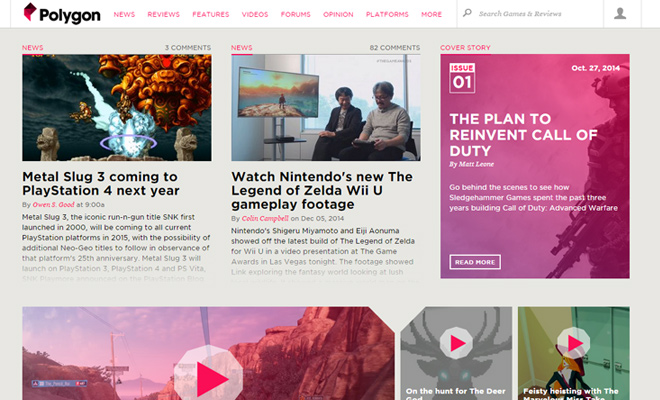 polygon fixed header navigation design