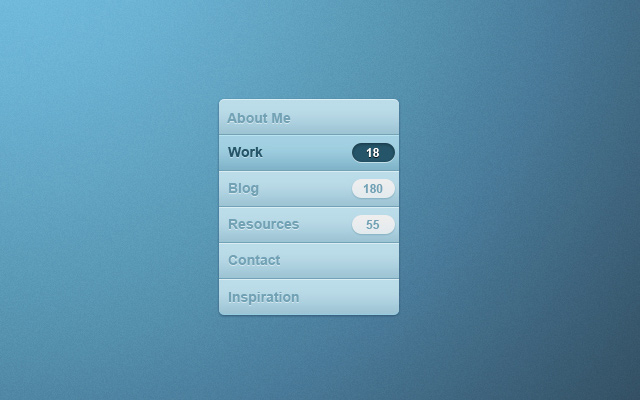 vertical clean navigation menu psd freebie
