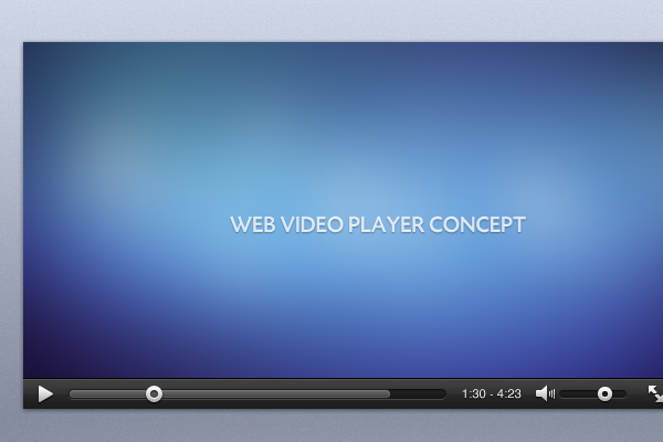 psd freebie website video player ui design
