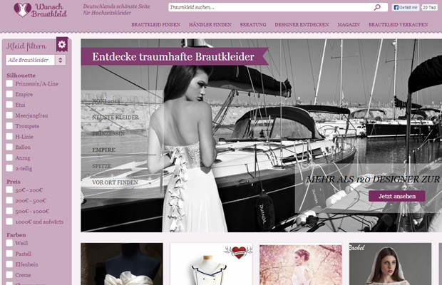 brautkleider wunsch brautkleid website homepage design purple wedding