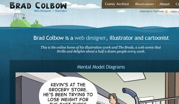 Brad Colbow portfolio website design