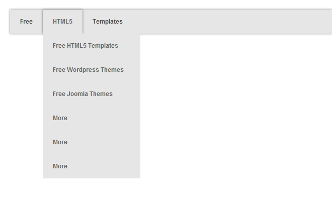 grey css dropdown navigation menu open source