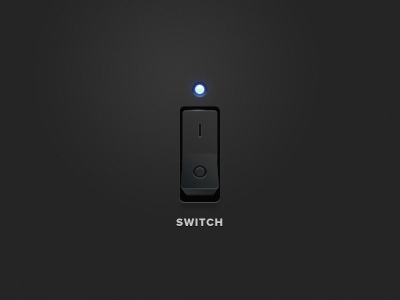Dark iPhone interface switch ui