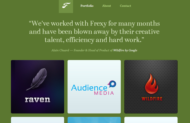 green frexy website layout inspiring design interface
