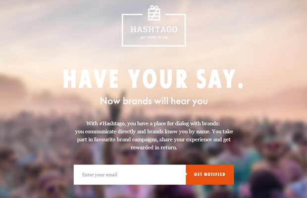 startup fullscreen website background hashtago design