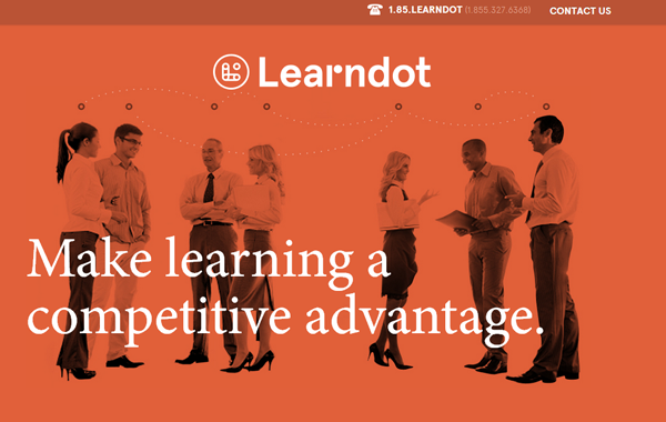 learndot website interface bootstrap