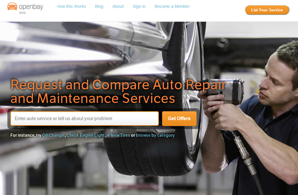 cars vehicle repair startup company homepage design