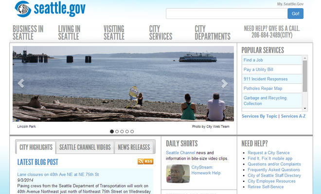 official seattle washington website
