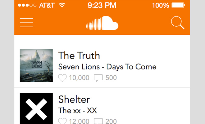 soundcloud ios redesign sketch freebie