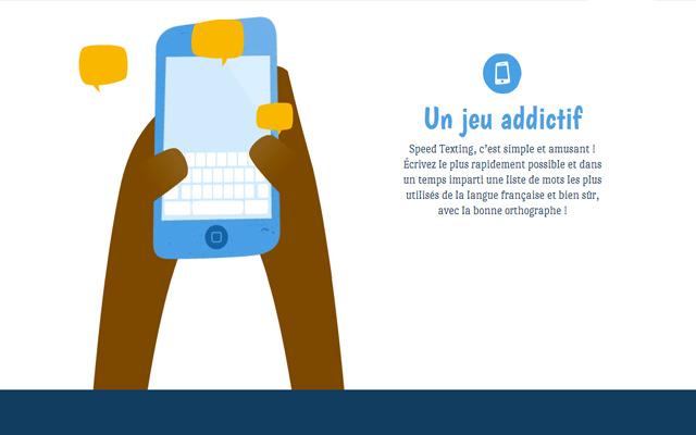 blue yellow website icons speed texting animation design