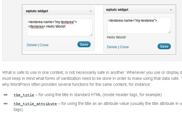 wordpress howto data sanitize validate