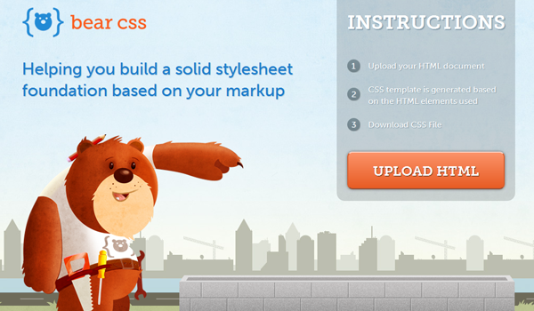 Bear CSS website illustration