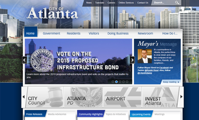 city of atlanta georgia website