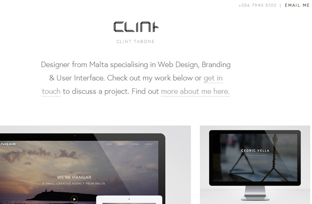 clint tabone flat website layout inspiration design