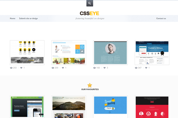 css3 gallery csseye website showcase designs