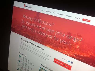 red design agency website layout complete full