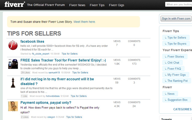 official fiverr network forum bulletin board