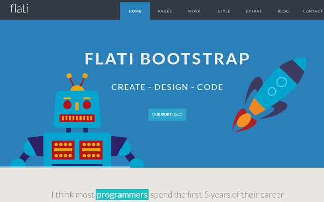 flati simple responsive bootstrap website template