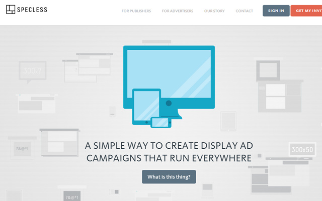 responsive advertisement agency website specless homepage
