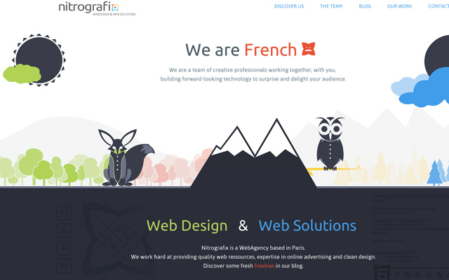nitro grafix design website layout studio homepage