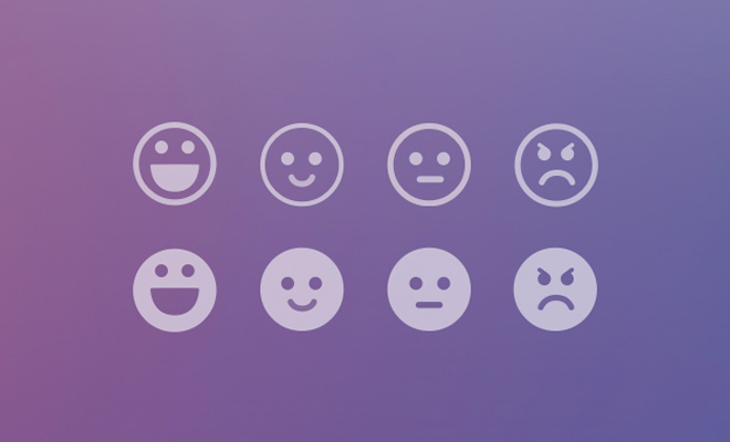 thin flat translucent colorful smiley