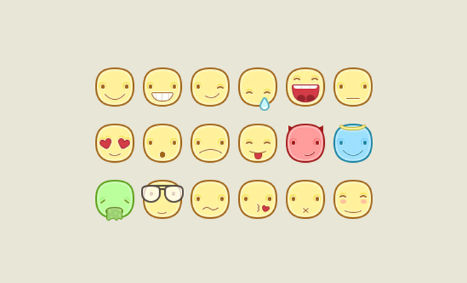 iconset emojis cute faces