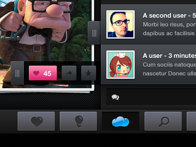 Comment user interface design for iOS