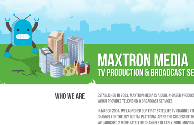 Maxtron Media TV television production studio green website