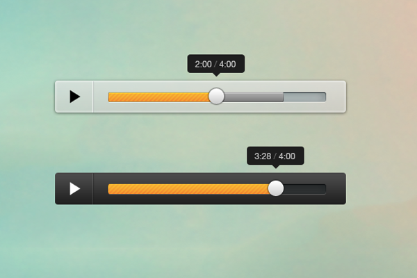 psd freebie mini audio player interface