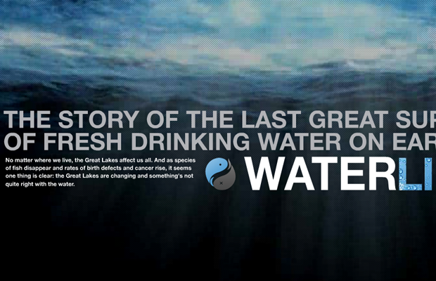official waterlife flash website layout