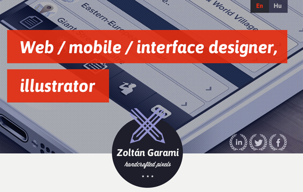 zoltan garami portfolio website layout bootstrap
