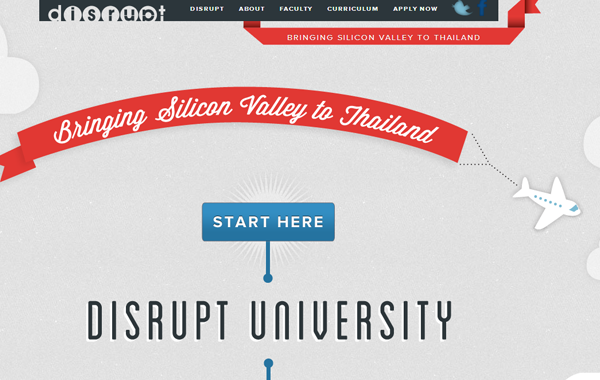 disrupt university website layout bootstrap