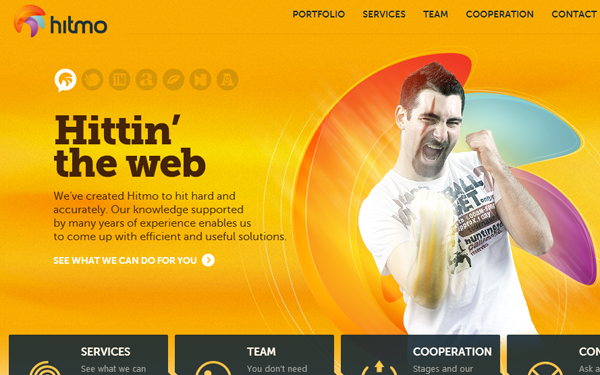 Hitmo web design studio website layout