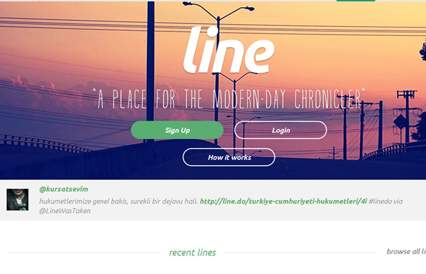 line do startup website layout blogs chronicles