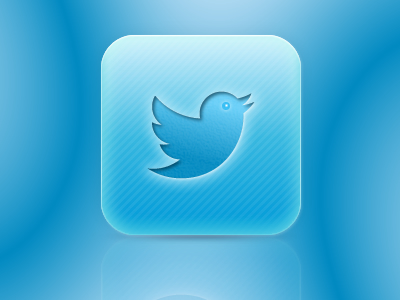 Branding Twitter blues gradient app icon
