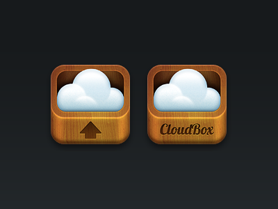 Cloudbox iOS app icon design